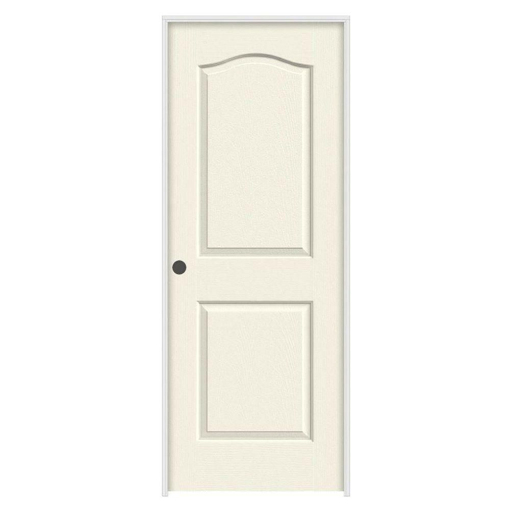 Visit The Home Depot To Buy JELD WEN 18 In. Solid Core Molded Composite  Prepaint Brilliant White Smooth Eyebrow Top Right Hand Prehung Door