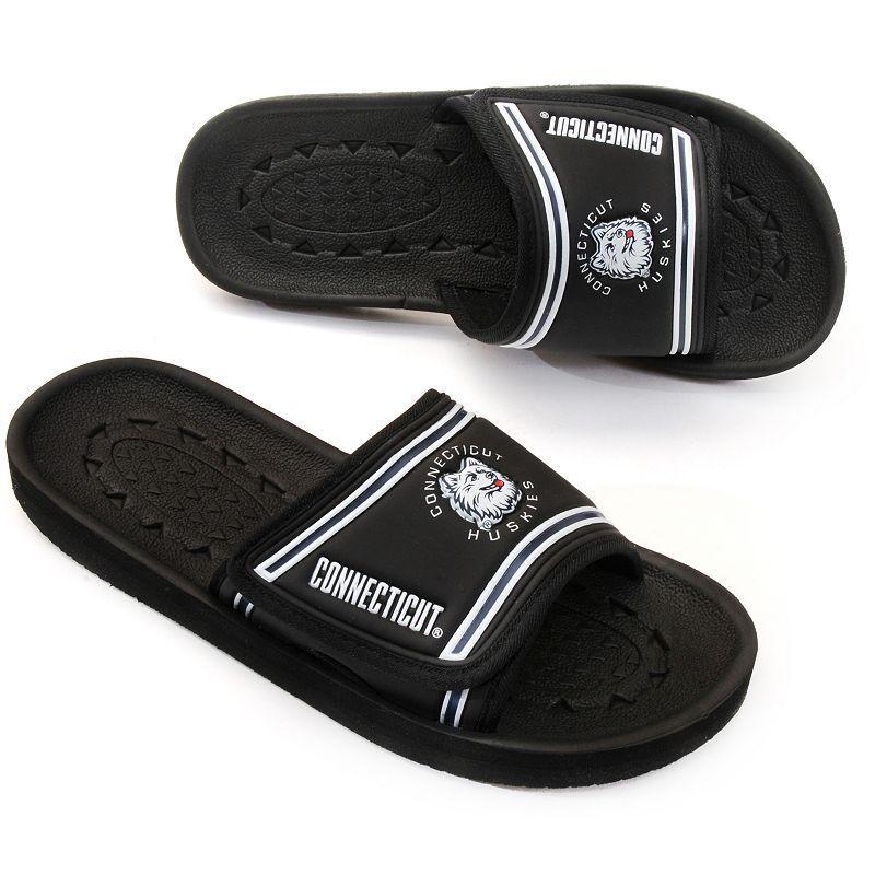 Adult UConn Huskies Slide Sandals, Size: Medium, Black