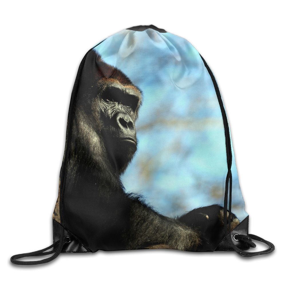 489098a5ce66 Unisex Drawstring Bags Animals Orangutans Cool Pattern Portable Backpack Travel  Sport Gym Bag Yoga Runner Daypack Shoe Bags   ...
