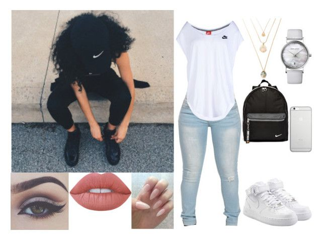 """""""Sandcastles"""" by anahi-sonador ❤ liked on Polyvore featuring NIKE, Georg Jensen, Lime Crime, Bellezza and Native Union"""