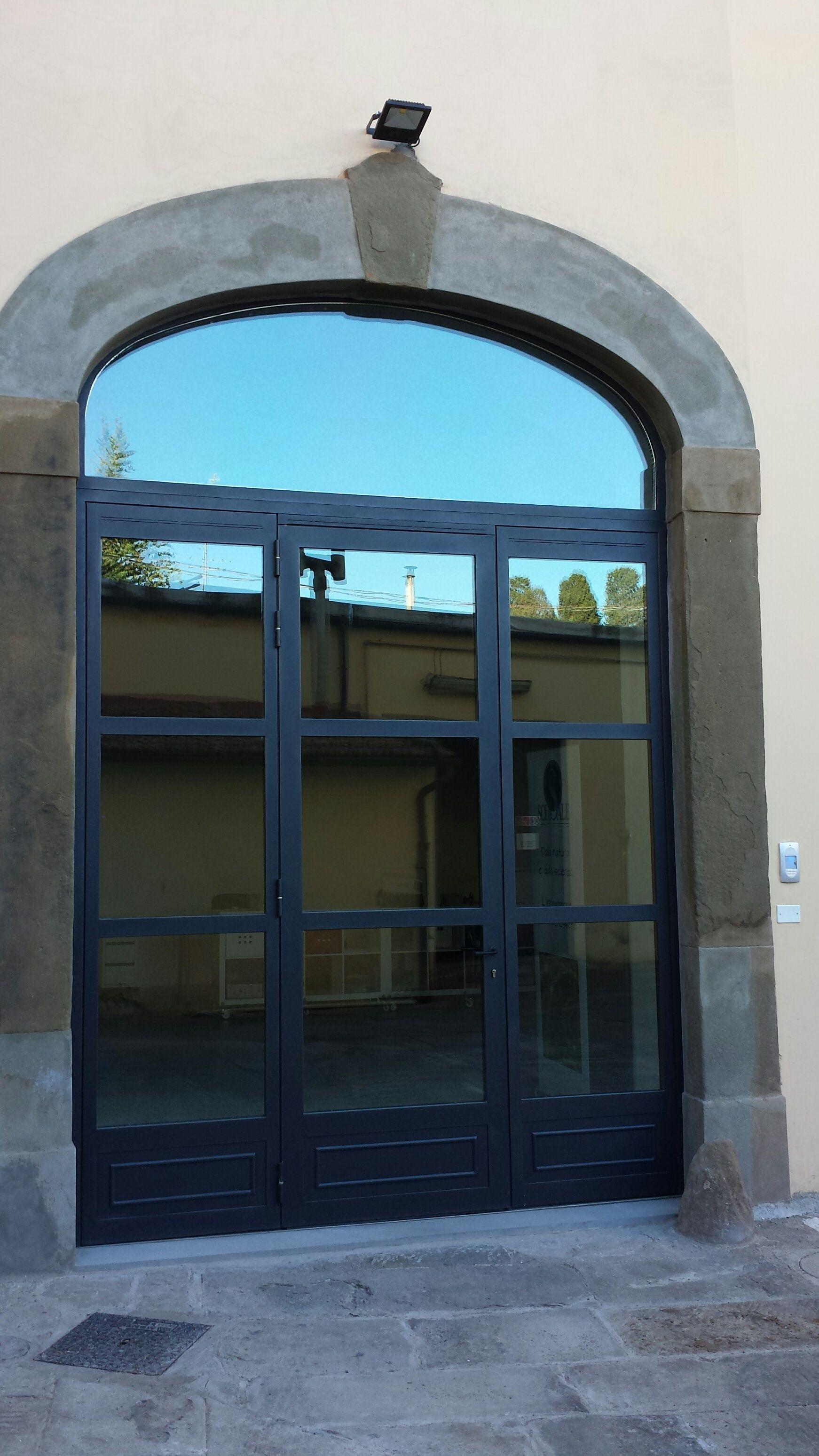 Portone Di Ingresso In Palladio 20 10 Con Vetri Termici Di