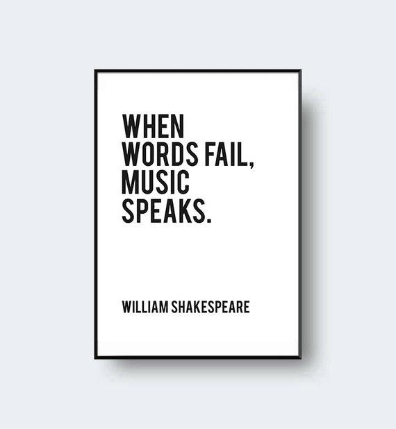 William Shakespeare Printable Quote \