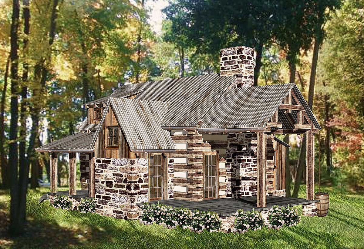 Photo of Rustic Vacation Log House Plan
