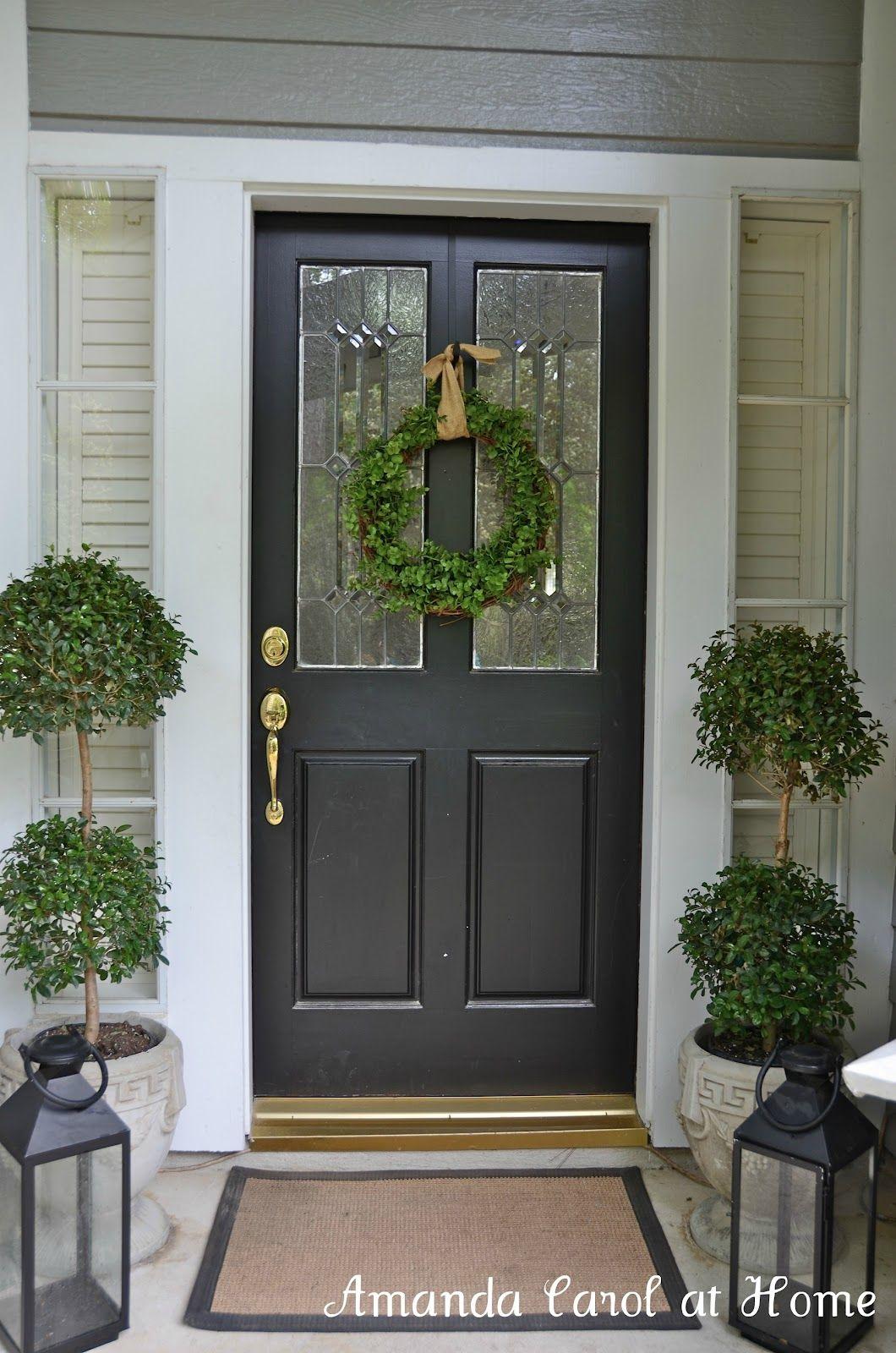 Amanda Carol At Home Front Porch Topiary And Lantern  Pinteres - Used front doors