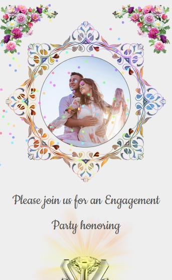 Engagement English Western Modern Elegant Stylish Design