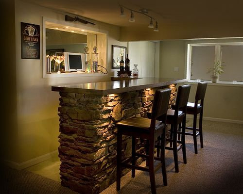 Amazing Basement Bar Recessed Cut Out For Tv