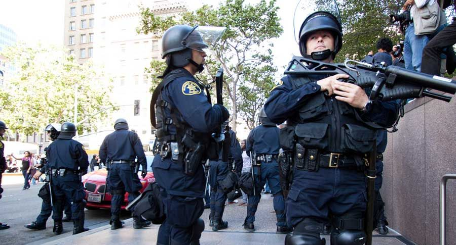 Boston Martial Law & Police State on Display