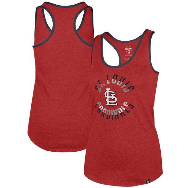 aec747e3b 47 St. Louis Cardinals Women s Red Clutch Club Racerback Tank Top ...
