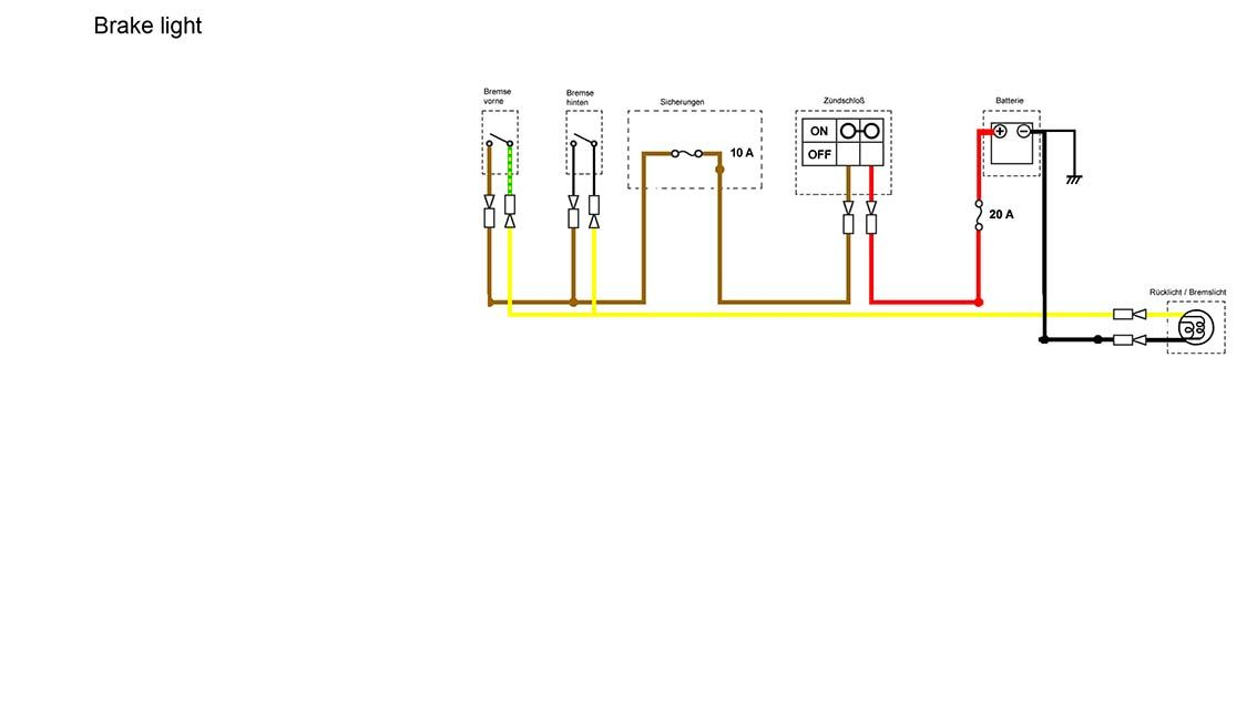 brake light section of the simplified wiring diagram motorcycle brake light section of the simplified wiring diagram