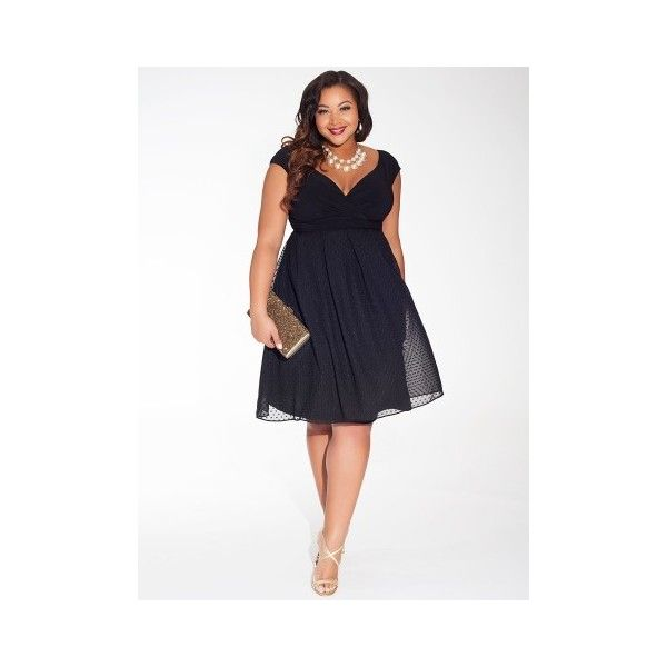 Jessica Plus Size Dress in Black $168 via Polyvore featuring