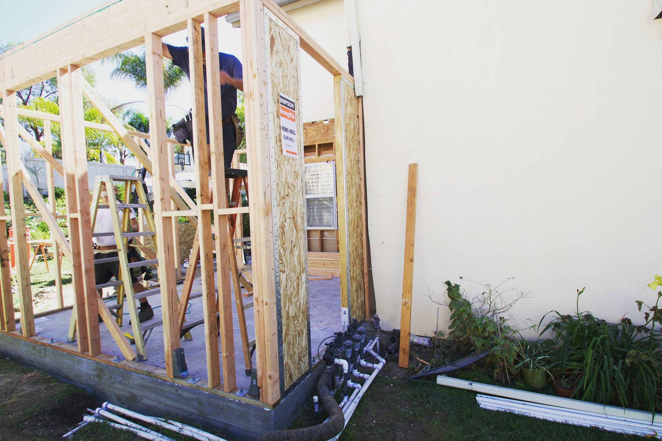 Room addition in process. The framing is underway. The team is working hard on this project! #underconstruct… - Design build firm, Building design, Room additions