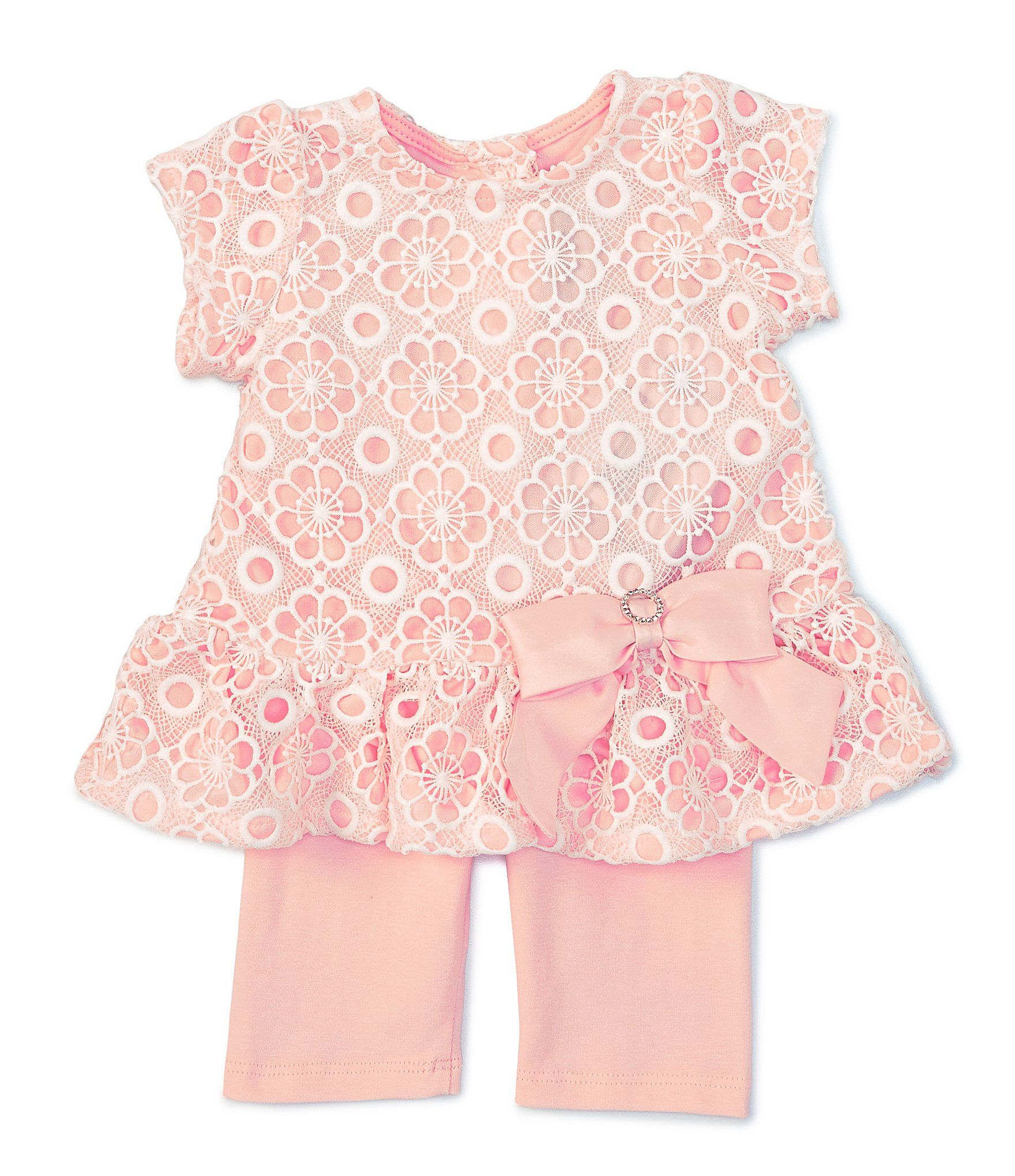 Photo of Rare Editions Baby Girls Newborn-24 Months Floral Satin-Lined Tunic Top & Leggings Set | Dillard's