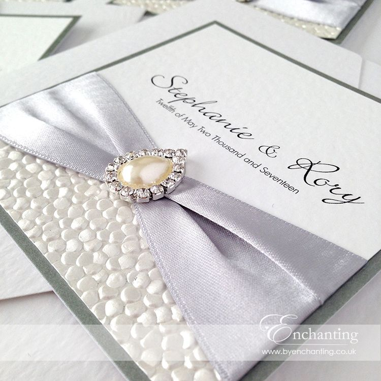 Grey Wedding Invitations | The Ariel Collection - Pocketfold ...