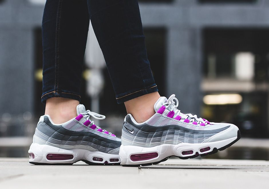 6a4aef4079 On-Feet Look At The Nike Air Max 95 Hyper Violet | Hard kicks | Nike ...