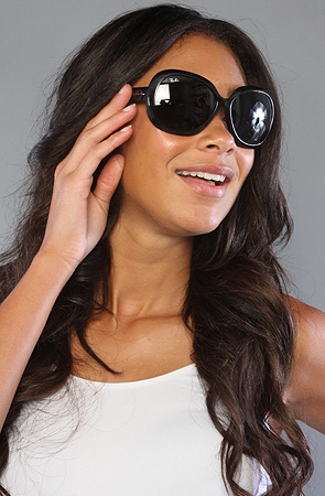 68fae9b3ab The Jackie Ohh II Sunglasses in Black Women s Sunglasses By Ray Ban  139.00