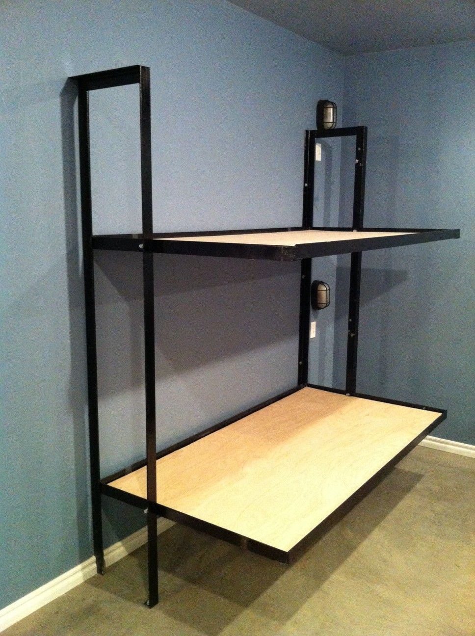 Folding Bunk Beds Without Mattress Diy Welding Bunk Bed Plans