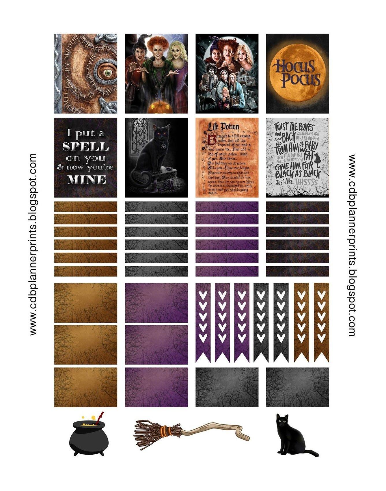 Hocus Pocus Printable Free Hocus Pocus Planner Stickers