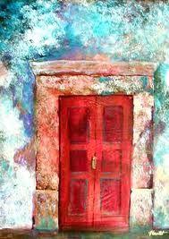 Love a red door!