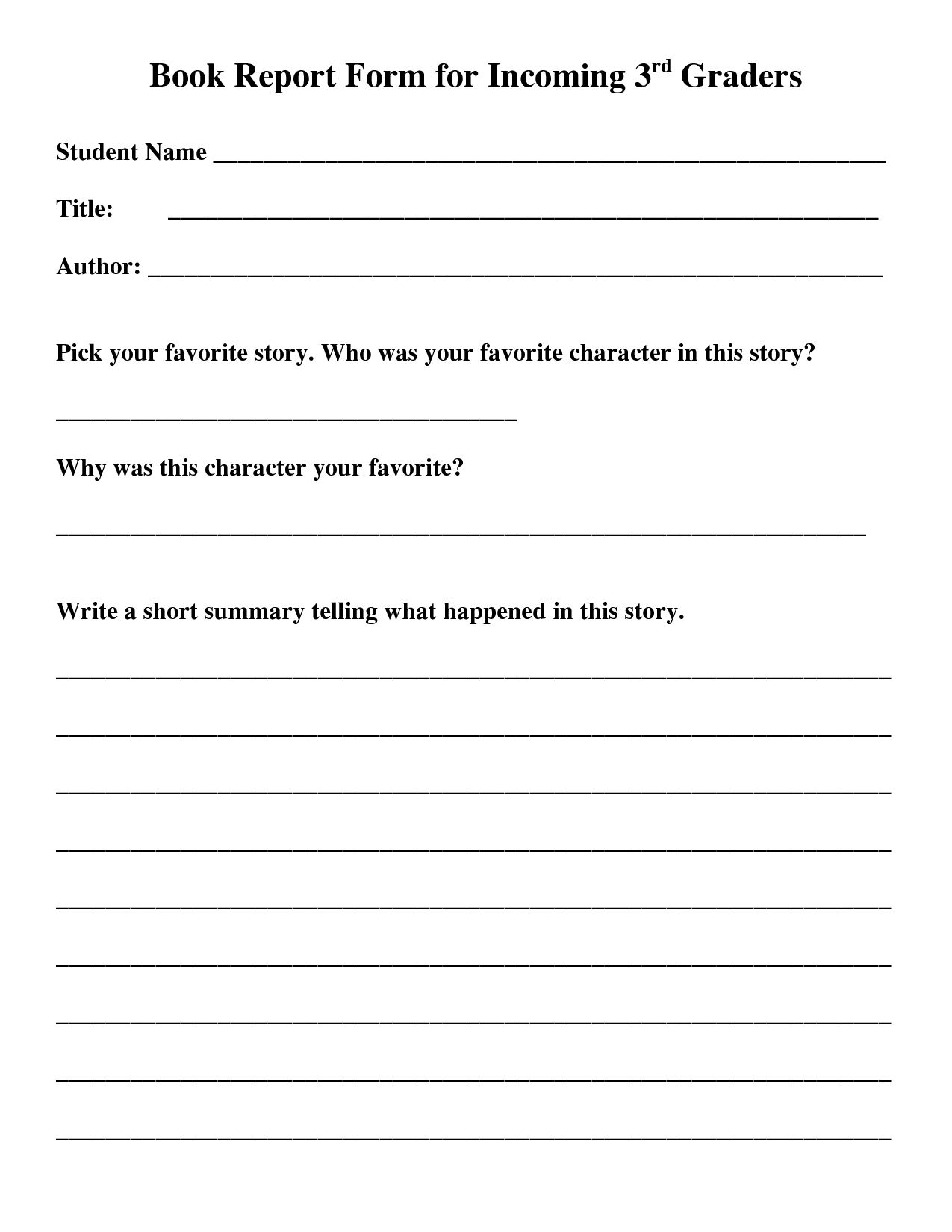 State Report Worksheet Printable Worksheets And Activities With Book Report Template 5th Grade Great C In 2020 Book Report Templates Second Grade Books Book Report