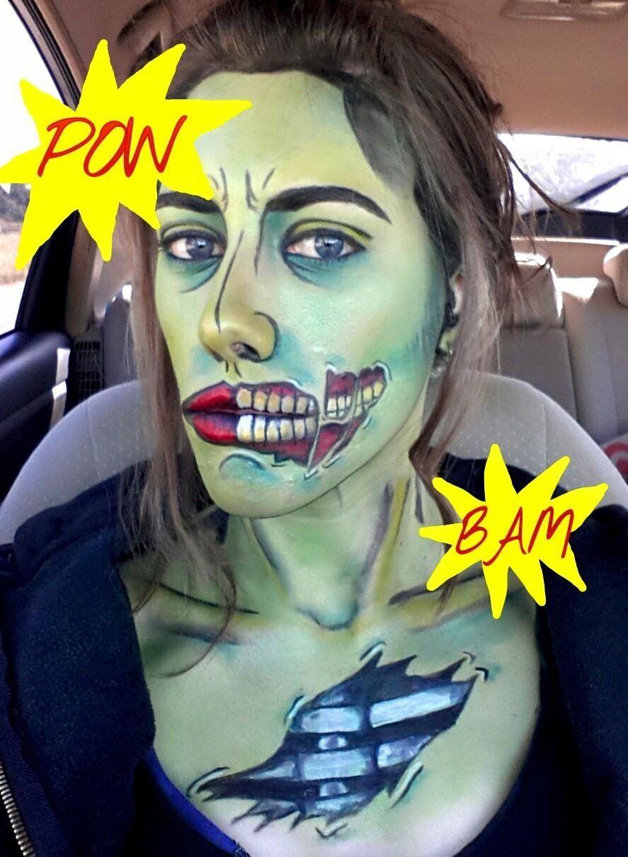 Make yourself into a pop art zombie please like i wish i wish