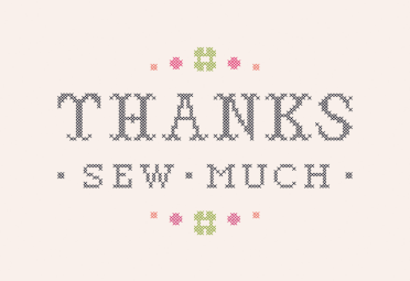 Thanks Sew Much Printable Card Customize Add Text And Photos