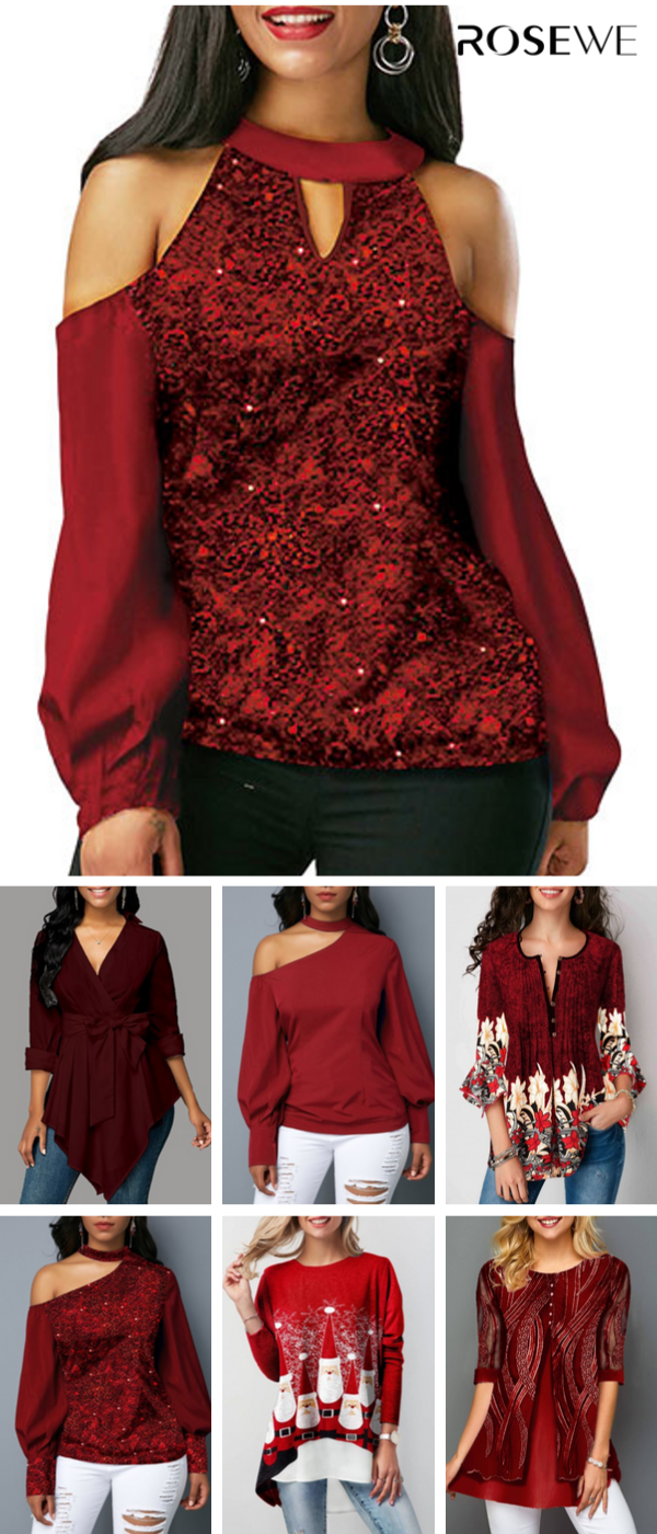 Tops Christmas Hours 2020 2019's Hottest Christmas Tops Perfect For Women | Ladies tops