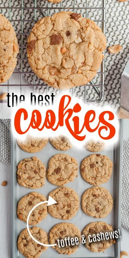 Photo of Toffee Cashew Cookies Recipe – Shugary Sweets