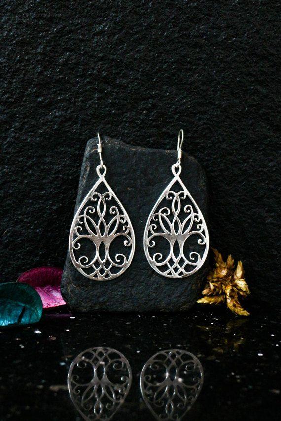 Tree Of Life Earrings Sterling Silver Jewelry By Elfscraft