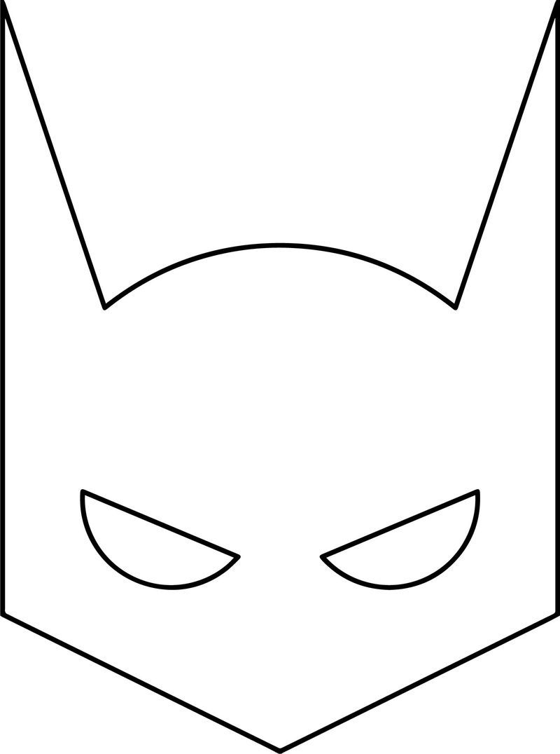 Superheroes Super Hero Batman Mask Coloring Page Superhero Masks Superhero Mask Template Batman Mask