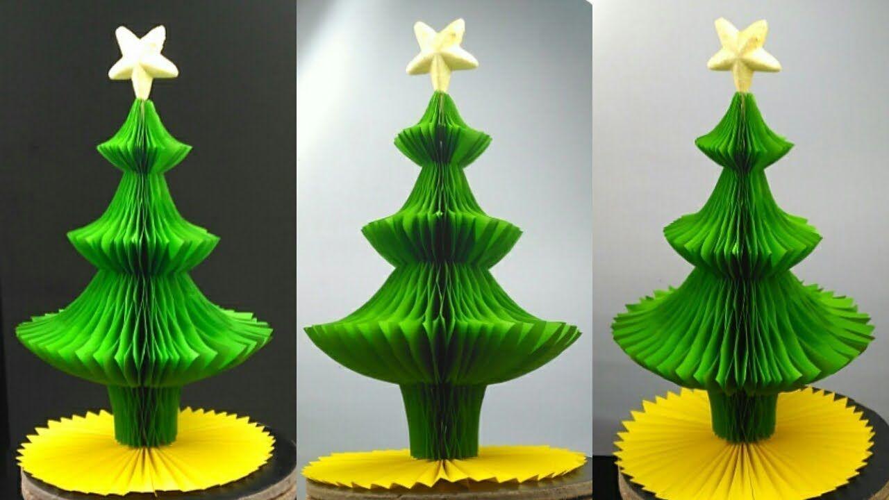 3d Paper Christmas Tree Making Diy Tutorial How To Make Paper Xmas Tre S Izobrazheniyami