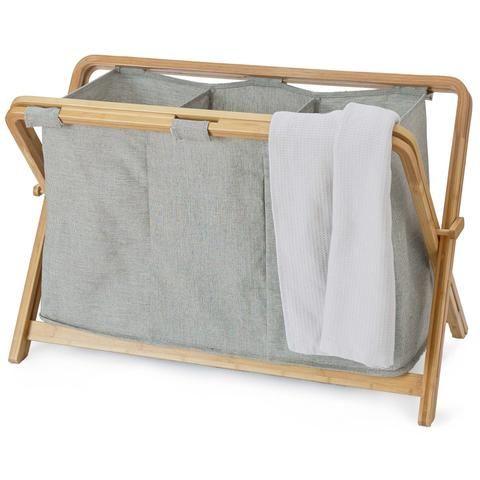 Wäschekorb Champa [Schwarz/Weiß/Braun]