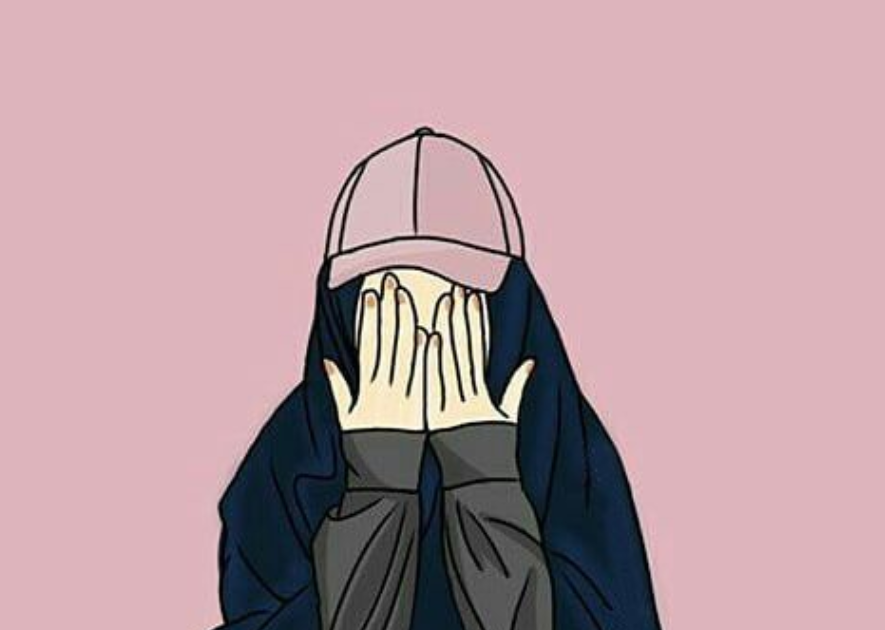 Anime Girl Tomboy Style Hijab Novocom Top