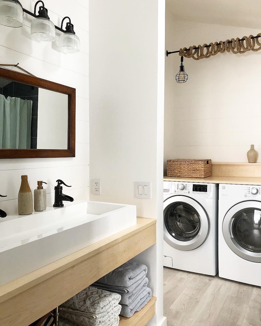 Felesha Mcafee On Instagram Laundry Bathroom Combo Renovation