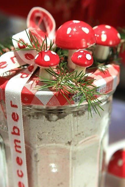 Christmas paddenstoeltjes