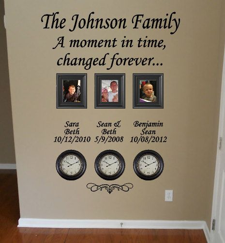 Time Stood Still Family Clock Wall Decal by GiftQueenGifts ...