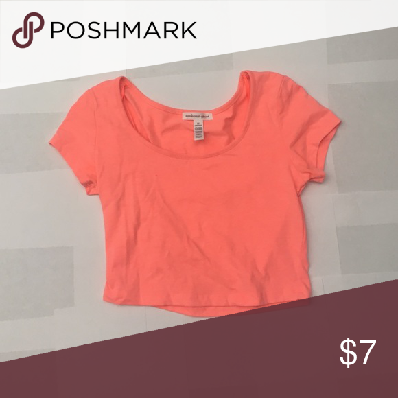 Orange Crop Top Orange/pink crop, worn once Charlotte Russe Tops Crop Tops