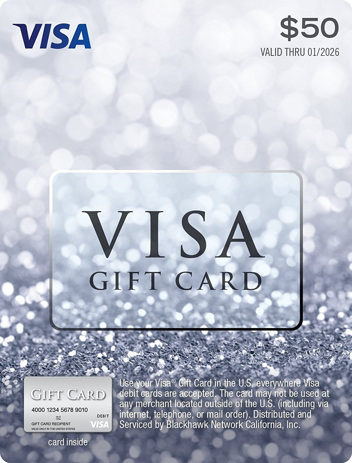 50 visa gift card no fees after purchase