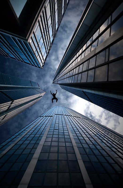 ♥ Base jump - Laurent Hunziker and some cool architecture on top :)