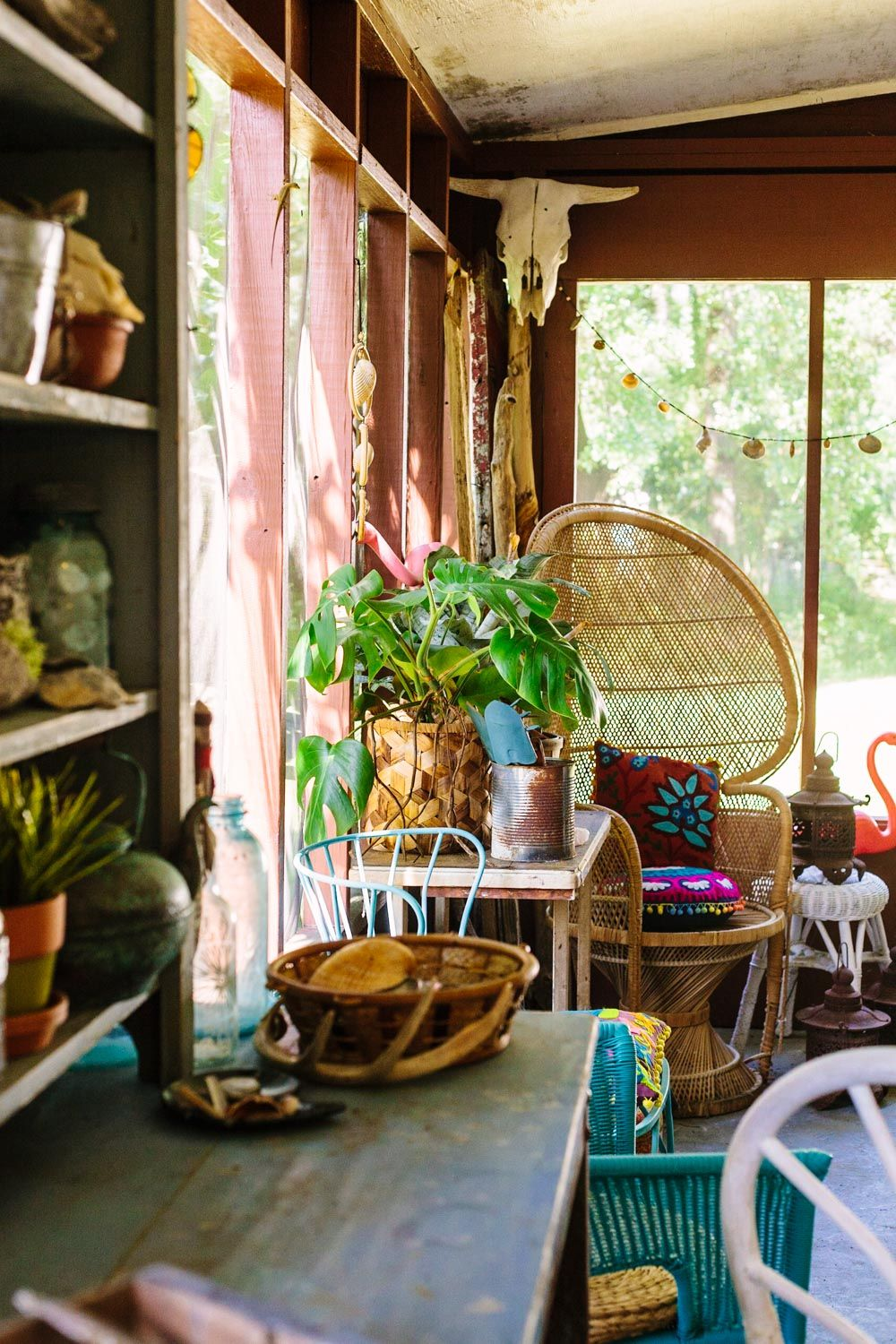 Boho Family Room Decor