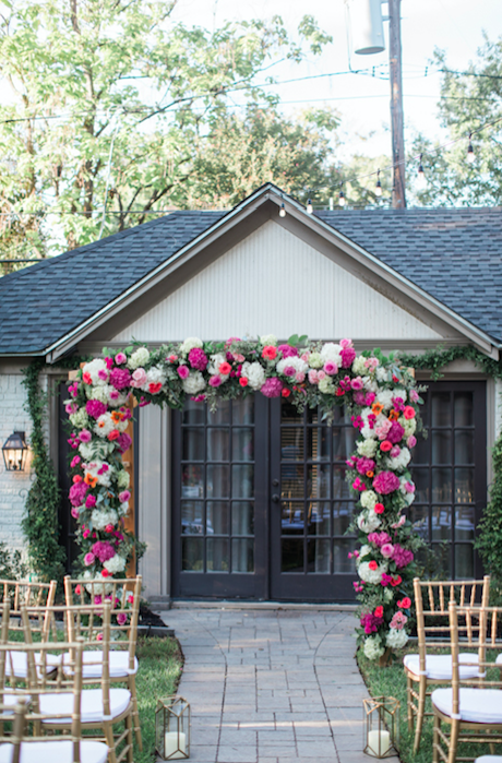 Intimate Backyard Wedding In Dallas Texas Planning And Design By