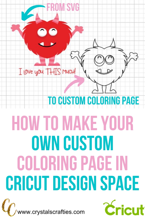 How To Make Your Own Coloring Page On Cricut Coloring Pages Make Your Own Make It Yourself