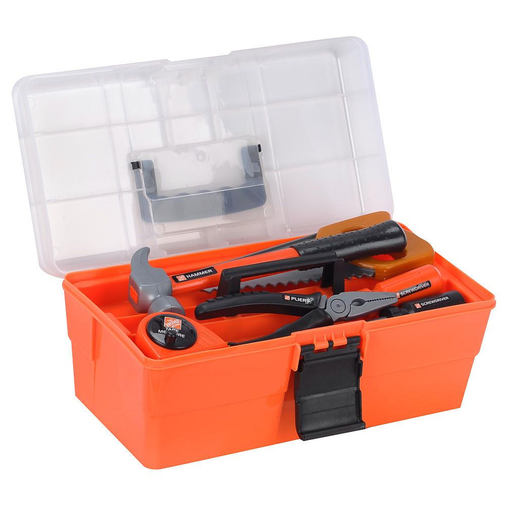 construction the home depot deluxe toolbox toys r us toys r us christmas gifts ideas. Black Bedroom Furniture Sets. Home Design Ideas