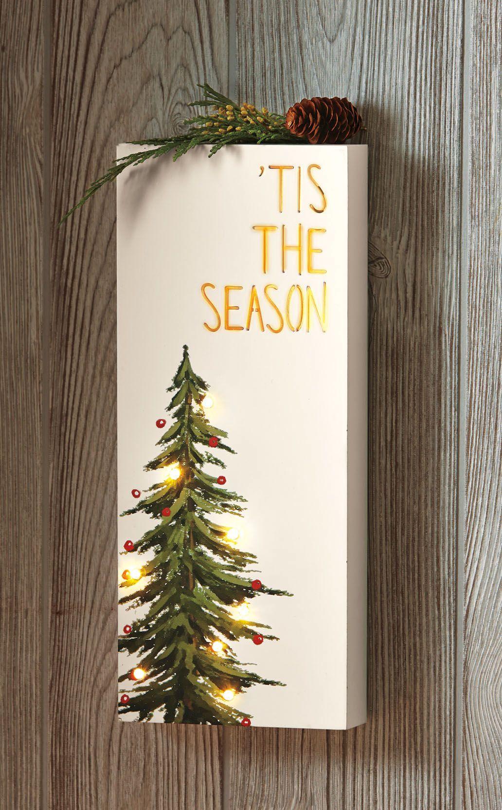 Tis The Season Light Up Wall Decor Fall Holiday 2019