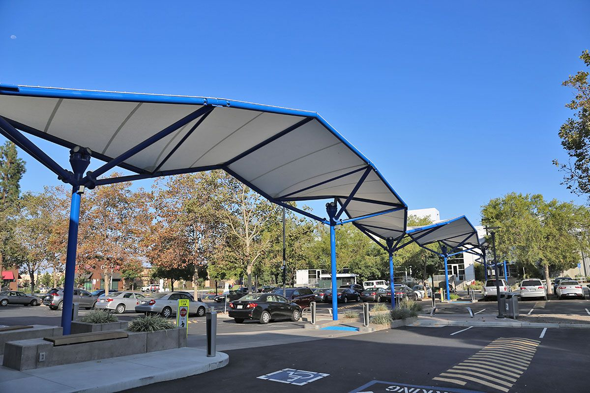 Covered Walkway Tensile Membrane Structure At Western