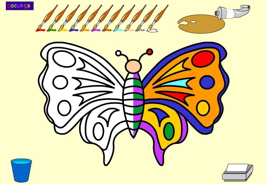 Kelebek Boyama Oyunu Yaşam Pinterest