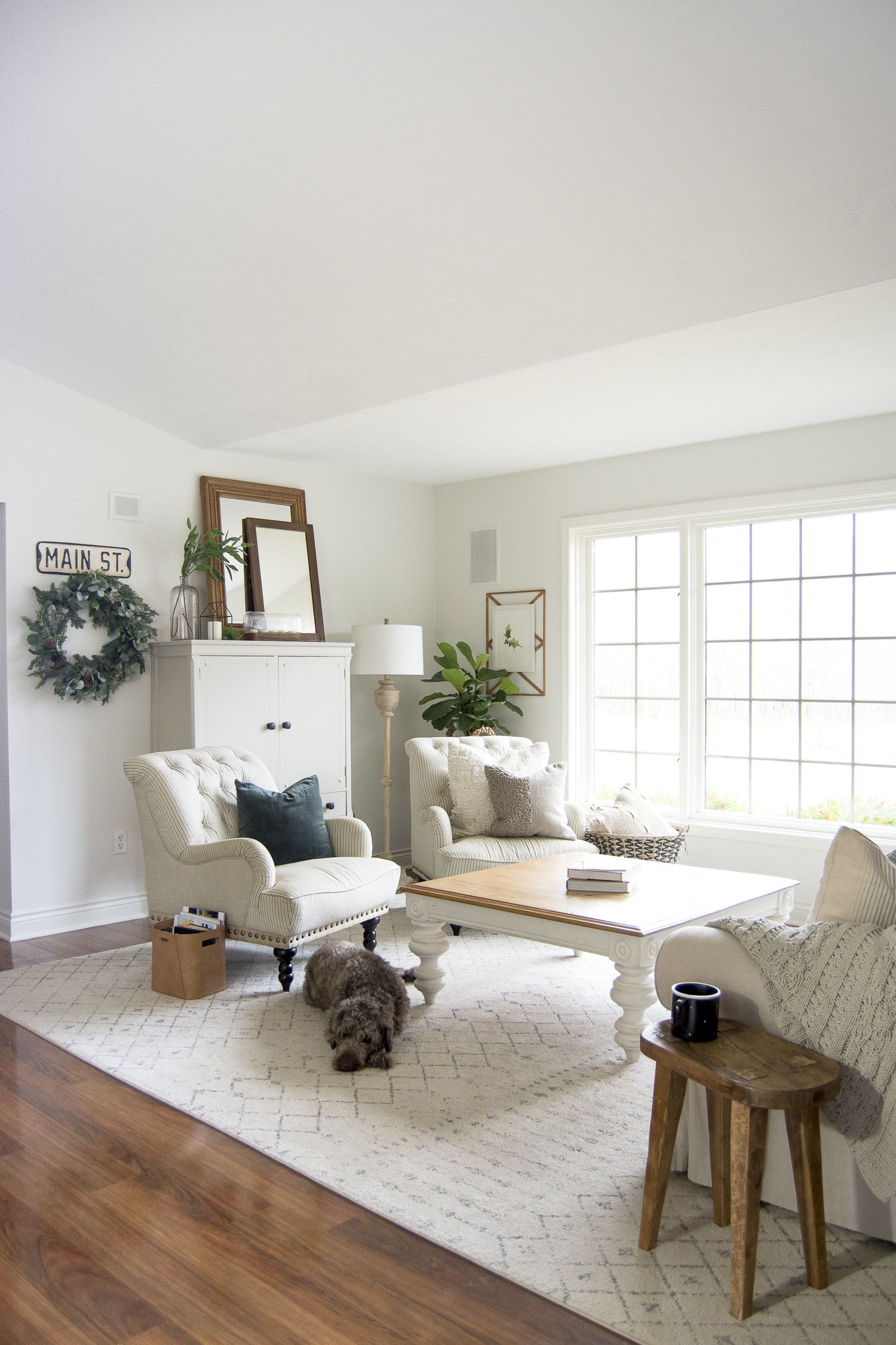 Farmhouse Living Room Furniture Layout Farmhouse living