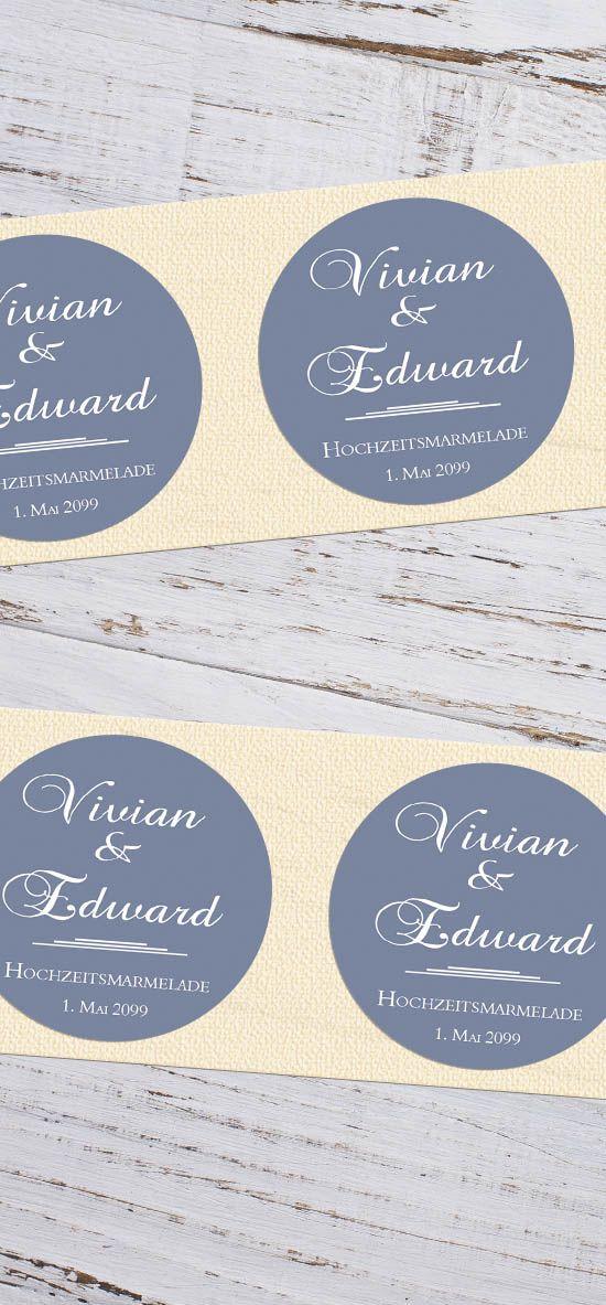 Elegante Runde Aufkleber Für Gastgeschenke Hochzeit Vivian