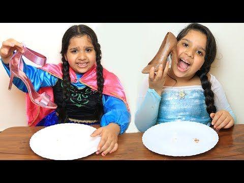 السا ضد انا تحدي الحقيقي ضد الشوكلاتة Elsa Vs Anna Real Vs Chocolate Battle Youtube Favorite Shirts Elsa Vs Anna Your Favorite