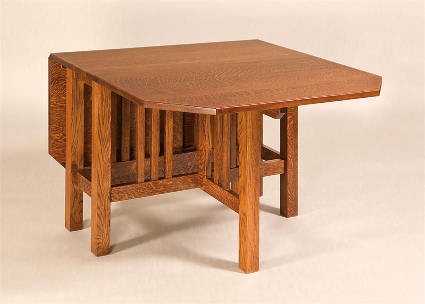 Amish mission style gateleg dining table leg tables for Mission style dining table