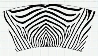 Free zebra svg template for tumbler wrap silhouette for Vinyl wrap templates